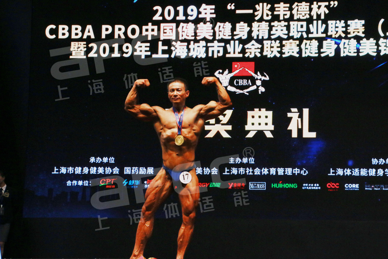 上海健身健美协会体适能健身学院代表队——徐清男子古典健美身高-171cm组 冠军